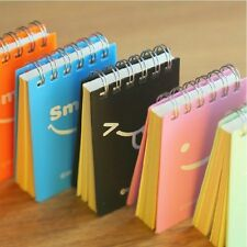 """Just Smile"" 1 pc Tiny Mini Pocket Coil Diary Study Lined Notebook Cute Planner"