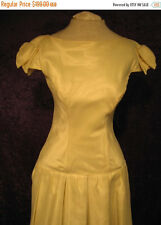 Vintage 1980s Early 1990s Christian Dior Pale Yellow Bridal Dress