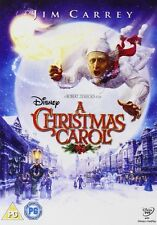 A CHRISTMAS CAROL DVD Jim Carrey Walt Disney Scrooge Ghosts Charles Dickens