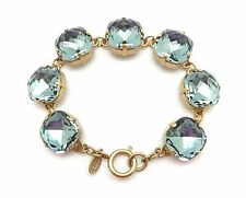 CATHERINE POPESCO 16mm Indian Sapphire Swarovski Crystal Gold Bracelet 7.5""