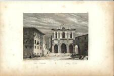 Stampa antica SIENA Battistero di San Giovanni 1834 Old antique print Engraving