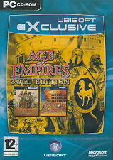 NEW! AGE OF EMPIRES W/RISE OF ROME EXPANSION GOLD EDITION for PC