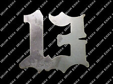 13 Metal Stencil Gusset Chopper Motorcycle Cafe Racer Hot Rat Rod Plasma Cut Art