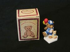 New Russ Berrie Moments of Happiness Brighter Days Bear Figurine Baseball