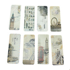 30 Pcs Retro London Paris Bookmark Flags Book Mark Page Marker Novelty Set Gifts