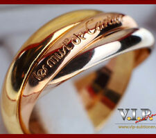 Cartier Trinity bague anillo talla 46 señora anillo 18k/750er tricolor Gold + + original box