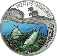 2010 Rwanda DOLPHIN Silver Proof Coin 500 Francs very rare
