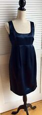 Micheal Kors Satin Taffeta Midnight NavyBlue Sleeveless Cocktail Dress10P Petite