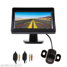 "4.3"" TFT LCD Car Rear View Backup Parking Mirror Monitor + Camera Night Vision"