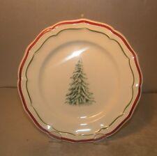 NEW Bread & Butter Plate Tree, Filets Noël Pattern GIEN