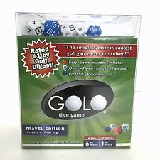 GOLO Golf Dice Game Travel Edition Gold In A Cup 9 Dice Travel Bag Scorecards 6+