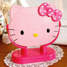 New Cute Hello Kitty Girls Desk Table Pink Bow Make-up Mirror Cosmetic Mirror