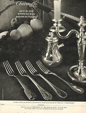 Publicité 1968  Christofle Orfèvre fourchette couvert