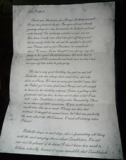 Harry Potter - Letter from Lilly to Sirius - Reproduction/Copy