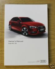 AUDI A3 S3 Sedán Sportback Manual Owners Manual 2012-2015