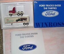 1991 History of Ford Trucks #5 1930 Winross Diecast Delivery Trailer Truck