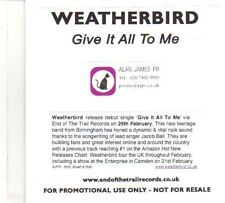 (DR237) Weatherbird, Give It All To Me - 2013 DJ CD