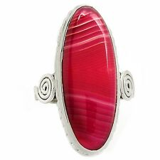 Botswana Agate 925 Sterling Silver Ring Jewelry s.8 SR197521