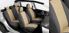 VW New Beetle 1C Maßgefertigte Velours Autositzbezüge Sitzbezüge (VGB1) Beige