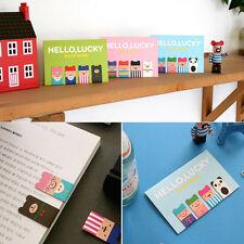 Cute Creative 4Pcs(1Set) Korean Magnetic Metal Bookmark Book Clip School