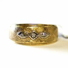 14k yellow gold .03ct diamond VS G wedding band ring vintage 4.4g estate antique