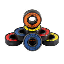 Set of Dark Wolf Skateboard Bearings ABEC 9 Multi Color 8pcs with 4pcs Spacers