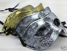 12 Pcs Hot Glitter fancy dress Ancient Greek and Roman fighter mask Masquerade
