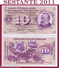 SWITZERLAND / SVIZZERA - 10 FRANKEN 7.2. 1974 sign. 43   - P 45t - FDS / UNC
