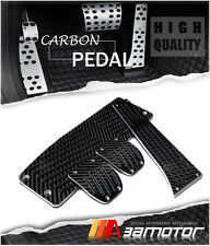 Carbon Fiber MT Pedal Set + Footrest 4PCS for BMW E46 E90 E91 E92 E87 E81 Manual