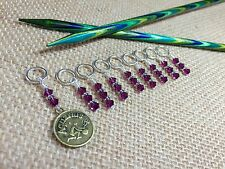 Zodiac Knitting Stitch Marker Set (SNAG FREE) - Set of 9 - Aquarius