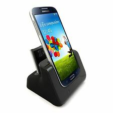 Dual USB Battery Charging Dock For Samsung Galaxy S4 Sync Cradle i9500 i9505