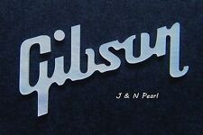 For Gibson Style Guitars Peghead Inlay Solid White Mother of Pearl Logo T:0.05""