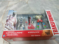 Transformers AOE Movie 4 Silver Knight Optimus Prime & Grimlock Hasbro MISB