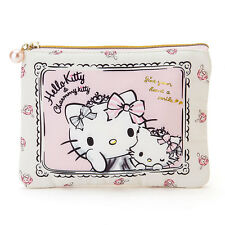 Hello kitty x Charmmy kitty Flat pouch Special Birthday F/S from JAPAN