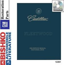 1994 Cadillac Fleetwood Shop Service Repair Manual CD Engine Drivetrain Wiring