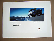 """PORSCHE OFFICIAL CAYENNE TURBO """" BETWEEN CURVES """" SHOWROOM POSTER 2003 LARGE"""
