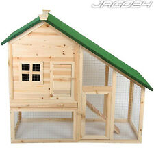 Wooden Rabbit Hutch Guinea Pig Hutches Run 2 Tier Double Decker Ferret Cage