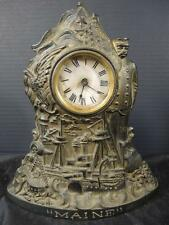 Spanish American War Cast Iron Battleship Maine Clock  Captain Sigsbee