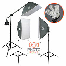 Continuous Softbox Studio Lighting Kit - 3 Head 3600w - Photography Photo Video