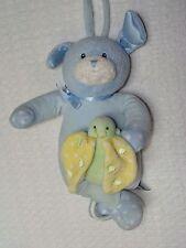 Baby Gund Dottie Dots Blue Plush Puppy Dog Musical Crib Pull Toy Lights