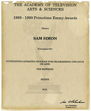 Emmy Nomination for The Simpsons Given to Sam Simon