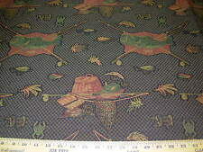 ~BTY~FISH FISHING GEAR~REGAL ELEGANT TAPESTRY UPHOLSTERY FABRIC FOR LESS~