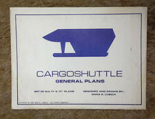 "1990 Star Trek Cargo Shuttle Blueprint Set- 6 Sheets 11""x17"" w Envelope (M5661)"