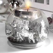 Jolly Reindeers Mercur 71443 Dreamlight Teelichthalter von Gild aus Glas