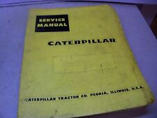 CAT CATERPILLAR SERVICE MANUAL D9 TRACTOR SERIAL NUMBER 66A3266-UP