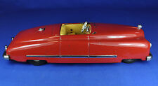 AUTO LATTA/TIN TOY: JNF preferito Cabriolet, Rosso/Red, MADE IN U.S. ZONE GERMANY