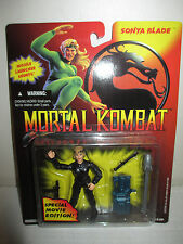"1994 Gi Joe Mortal Kombat MOC Movie Edition 3.75"" Sonya Blade Figure Hasbro"