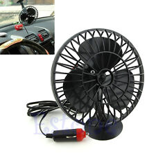 12V Powered Mini Car Truck Boat Vehicle Cooling Cool Air Fan Cigarette Lighter