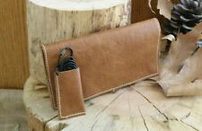 REAL LEATHER ROLLING CIGARETTE TOBACCO POUCH TOP QUALITY ITALIAN GENUINE LEATHER