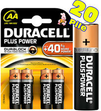 20 ALKALINE-BATTERIEN AA EINGABESTIFT DURACELL PLUS POWER DURALOCK Scad. 2024